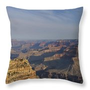 Daybreak At The Canyon Throw Pillow