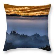 Daybreak Coming To The Smoky Mountains E150 Throw Pillow