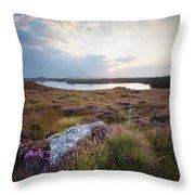 Daybreak Over Connemara Bog Throw Pillow