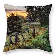 Daybreak Southwest Corner Fenceline Throw Pillow