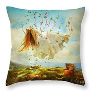 Daydreams Throw Pillow by Aimee Stewart