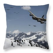 Daylight Raid Throw Pillow