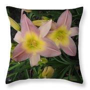 Daylilies Throw Pillow