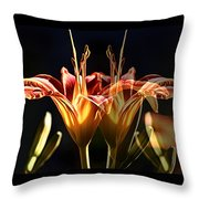 Daylily Doubled Throw Pillow