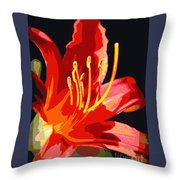 Daylily Flame Throw Pillow