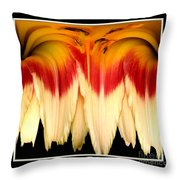 Daylily Flower Abstract 2 Throw Pillow
