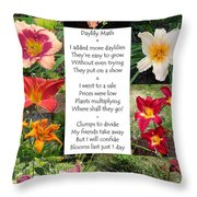 Daylily Math Throw Pillow