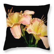 Daylily Pair Throw Pillow