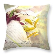 Daylily Photoart With Verse Throw Pillow