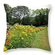 Daylily River Throw Pillow