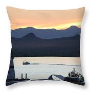 Days End At The Lake Throw Pillow