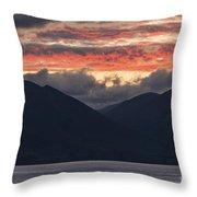 Days End On Lake Wakatipu Throw Pillow