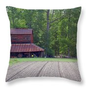 Days Gone By--tobacco Barn Series  Throw Pillow