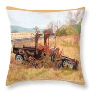 Days Gone Bye Throw Pillow