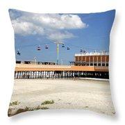 Daytona Beach Pier Pano Throw Pillow