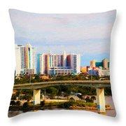 Daytona Bridge Throw Pillow