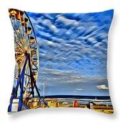 Daytona Ferris Wheel Throw Pillow