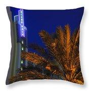 Daytona Rest Stop Throw Pillow