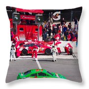 Daytona Speedway Race View Throw Pillow