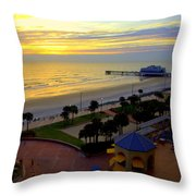 Daytona's Dawn Throw Pillow
