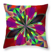 Dazes Land Throw Pillow