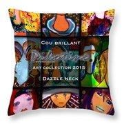 Dazzle Neck Art Collection Throw Pillow