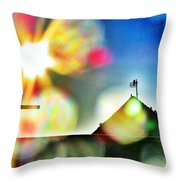 Dazzled By The Sun Throw Pillow