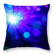 Dazzling Blue Throw Pillow