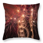Dazzling Fireworks Throw Pillow by Garry Gay