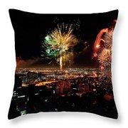 Dazzling Fireworks Iv Throw Pillow