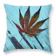 Dazzling Japanese Maple Leaf Throw Pillow