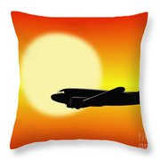 Dc-3 Passing Sun Throw Pillow