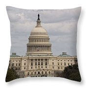 Dc Capitol Building Throw Pillow