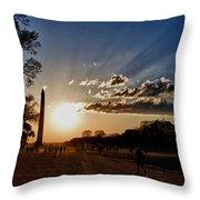 Dc Monument Sunset Throw Pillow
