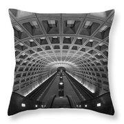 D.c. Subway Throw Pillow