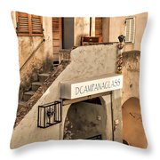 Dcampanaglass Throw Pillow