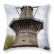 De Gooyer Windmill In Amsterdam Throw Pillow