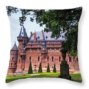 De Haar Castle 3. Utrecht. Netherlands Throw Pillow