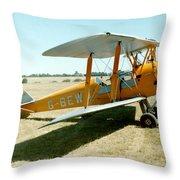 De-havilland Tiger Moth Throw Pillow