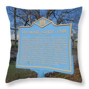 De-kc51 Delaware State Fair Throw Pillow