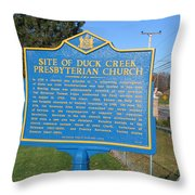 De-kc81 Site Of Duck Creek Presbyterian Church Throw Pillow