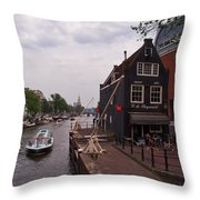 de Sluyswacht Amsterdam Throw Pillow