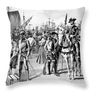 De Soto Departure, 1538 Throw Pillow