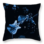 Dead #19 Art In Blue Throw Pillow