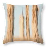Dead Conifer Trees In Sand Dunes Throw Pillow