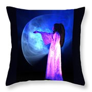 Dead Girl Throw Pillow by Lisa Yount