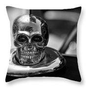 Dead Head Hood Ornament Throw Pillow
