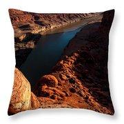 Dead Horse Point Colorado River Bend Throw Pillow