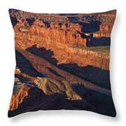 Dead Horse Point Sunrise Panorama Throw Pillow