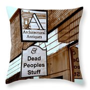 Dead Peoples Stuff Throw Pillow